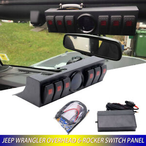 Overhead 6 Rocker For Jeep Wrangler Switch Panel Jeep Switch Panel New Version