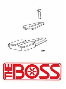 Boss Snow Plow Bumper Stop Kit For Rt3 V plows Msc04254 New Oem Free Shipping