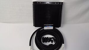 Automatic Transmission Cooler Line Kit 6an Black Braided Hose Th350 400 Cooler