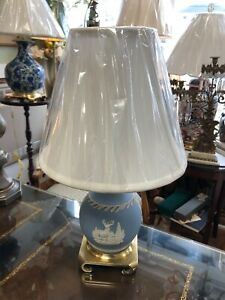 Small Wedgewood Table Lamp