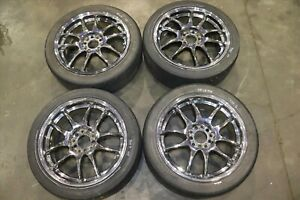 Jdm Genuine Authentic Work Emotion Cr Kai Wheels 5x114 3 Rims 17x7 Et47