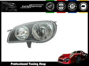 Headlight Left Vp1272l Toyota Corolla 1999 2000 2001 2002 Black