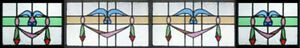 Huge Set 4 Antique Victorian Stained Glass Windows U K