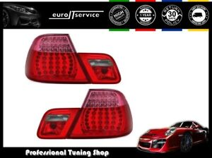 Set Tail Lights Led Vt399 Bmw 3 E46 Coupe 1999 2001 2002 2003 Red