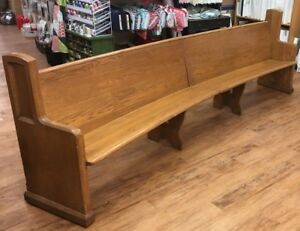 Oak Church Pews 2 Pieces Can Make Between 64 Wide To 10 10 Wide
