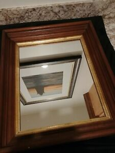 Antique Victorian Walnut Frame With Mirror 15 X 18 Inside Opening 11 X 14