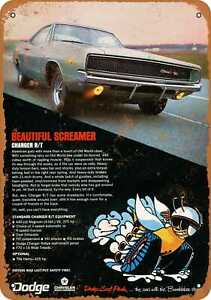 Metal Sign 1968 Dodge Charger R t Vintage Look Reproduction 2
