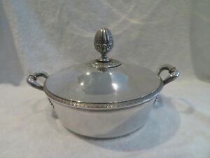 1819 French Sterling Silver Covered Vegetable Dish Empire St Vie