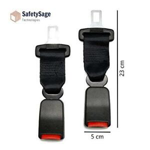 Car Seat Belt Extender 2 Pack Seat Belt Extension Strap 7 8 Metal Tongue