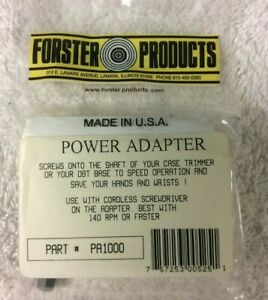 Forster Power Adapter #PA1000