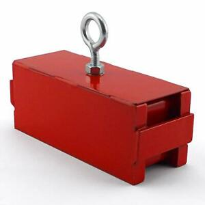 Heavy Duty Magnet Retrieving Lifting Magnetic And Eyebolt Nut Red Base
