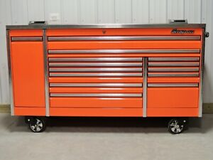 Snap On Orange 84 Epiq Tool Box Toolbox Stainless Steel Power Top