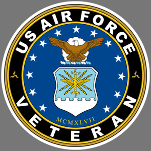Us Air Force Veteran Vinyl Sticker Car Truck Window Decal Military Armed Forces
