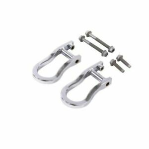 Oem Gm Recovery Tow Front Hook Set Chrome Fits 2015 18 Sierra Silverado 1500