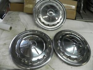 1957 Chevrolet Original 14 Inch Hub Caps Wheel Covers Nice Cool Wow Vintage