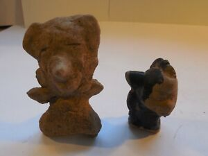 2 Veracruz Remojadas Figures Pre Columbian Antiquities Ancient Artifacts Mayan