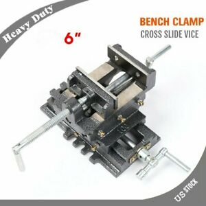 Heavy Duty 6 Cross Drill Press Vise Slide Metal Milling 2 Way Clamp Vice Br