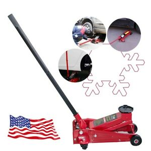 Red Low Rider 3ton 6000 Lb Racing Car Auto Floor Jack Rapid Pump Lift Heavy Duty