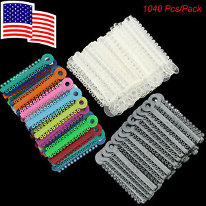 1040 Pcs pack Dental Orthodontic Ligature Ties Elastic Usps Shipping