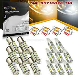 8 3157 Dual Color Switchback White Yellow Turn Signal T10 921 Reverse Light Bulb
