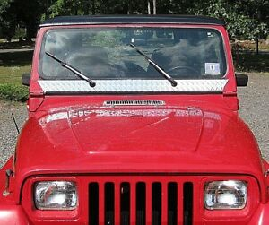 Jeep Yj Wrangler Diamond Plate Windshield Frame Cover Hide Rust 27 99 Free Ship