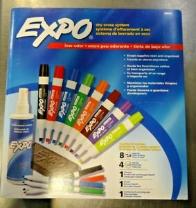 Expo 80054 Low Odor Dry Erase Marker Kit Various Marker Tips New