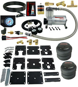 Air Tow Assist Kit 1999 06 Chevy Silverado 1500 White Gauge Air Compressor