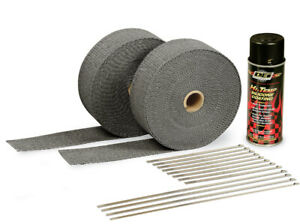 2in Exhaust Wrap Kit Blk W blk Silicone Coating