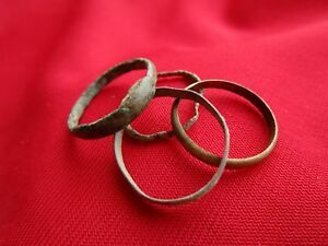 Ancient Roman Wedding Ring S Lot With Pieces Bronze No 14