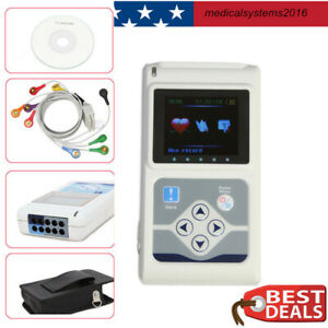 Contec Tlc5000 24 Hours Holter 12 channel Ekg ecg System Recorder Monitor Newest