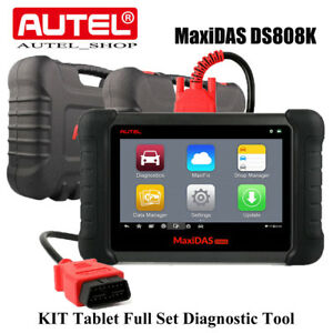 Autel Maxidas Ds808k Obd2 Auto Diagnostic Tool Full Set Adapter Better Ds808 Us