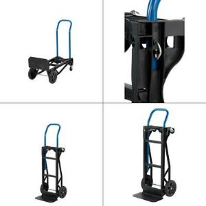 400 Lb Capacity Lightweight 2 in 1 Convertible Hand Truck Cart Dolly Moving