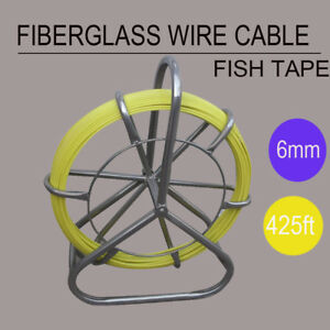 From Usa Fiberglass Wire Cable Rod Duct Rodder Fishtape 6mm 130m