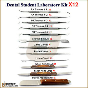 Dental Laboratory Technician Kit Student Training Wax Modelling P k Thomas Set