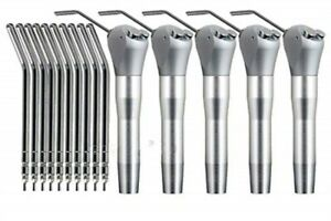 5 X Dental Air Water Spray Triple 3 Way Syringe Handpieces With 10 Nozzles Tips