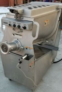 Hobart Mg1532 1 Heavy Duty 8 5 Hp With Foot Pedal Meat Mixer grinder Tested