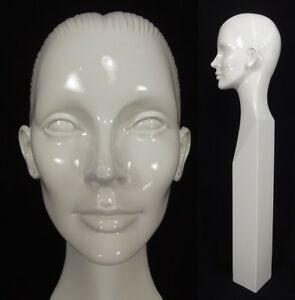 Rare Vintage Mannequin Head Woman Abstract 1960 s Store Window Display 33 Tall