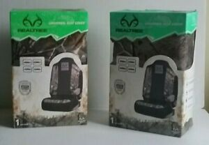 Lot Of 2 New Realtree Hunting Camo Camouflage Universal Seat Covers Rsc4510