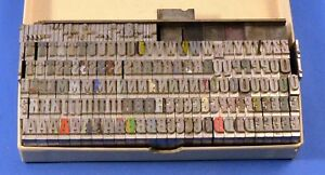 30 Point Stymie Bold Condensed Lead Letterpress Type Upper Case
