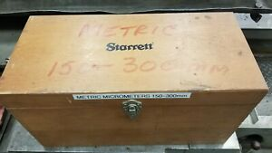 Starrett Complete Metric Micrometer Set 150 300mm Carbide Tipped