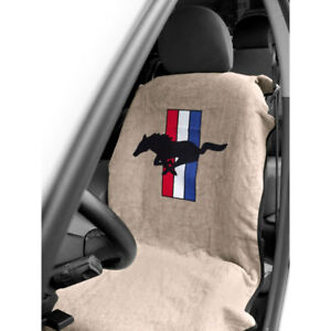 Mustang Seat Armour Seat Cover Tan With Pony Logo Cj Pony Parts