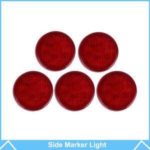 5pcs Red 2 5 Round 13 Led Truck Trailer Lamps Side Marker Led Clearance Light