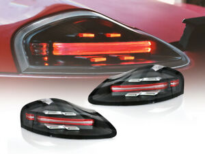 718 Style Full Led Clear red Bar Tail Light Set For 1997 04 Porsche Boxster 986