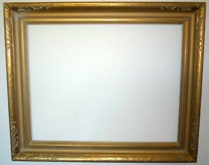 Large Antique Gilt Gold Gesso Newcomb Macklin Style Wood Carved Frame 28 X 22