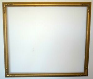 Large Antique Gilt Gold Gesso Newcomb Macklin Style Picture Frame 30 X 26