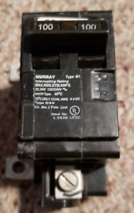 Murray Type M1 100 Amp 120 240v Main Circuit Breaker 2 pole Hacr