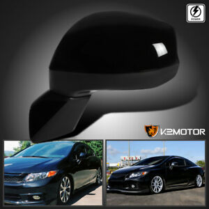 For 2012 2015 Honda Civic Black Power 3 pin Folding Side Mirror Driver Left Lh