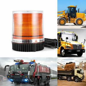 72 Led Emergency Truck Magnetic Mount Rooftop Rotating Beacon Strobe Light Amber