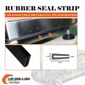 Pvc Auto Rubber Seal Weather Stripping Door Edge Guards Noise Reducing 35ft
