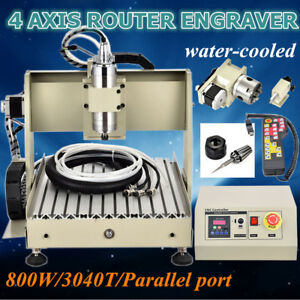 800w 4 Axis Engraver Cnc 3040 Router Engraving Milling Cutter Machine controller